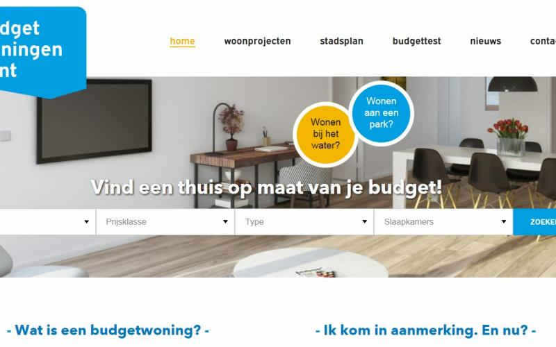 Website budgetwoningen.gent